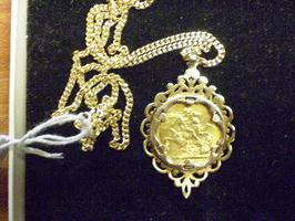 Victorian Soverign & Gold Chain SOLD For £450